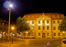 Das Stutterheim'sche Palais bei Nacht
