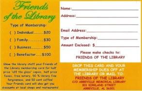 FOL membership info card 2015