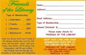 FOL membership info card 2015