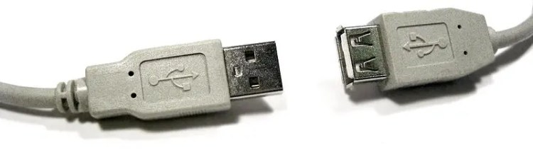 Keyboard USB connectors image
