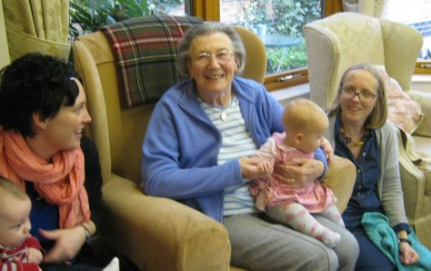 castle farm residents with grand children