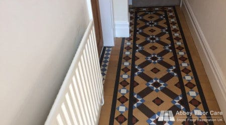 cleaned minton tile floor in Staffordshire