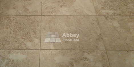picture showing dirty marble and grout in Warwickshire