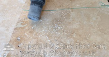 vacuum away dry dust