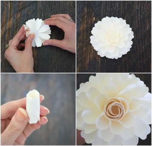 How to make paper dahlias. AbbiKirstenCollections.com