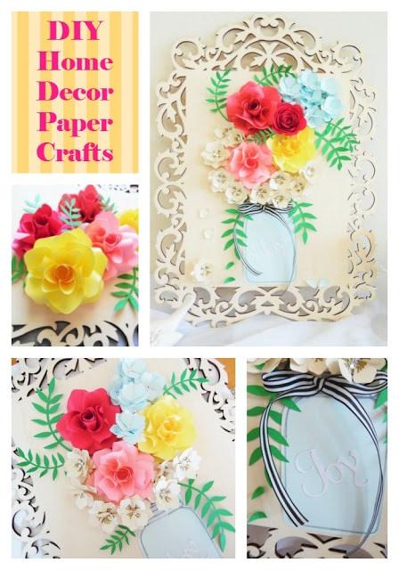 home decor wall art. DIY paper flower wall art