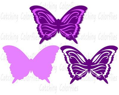 Free Butterfly SVG Cut File: 3D Paper Butterflies