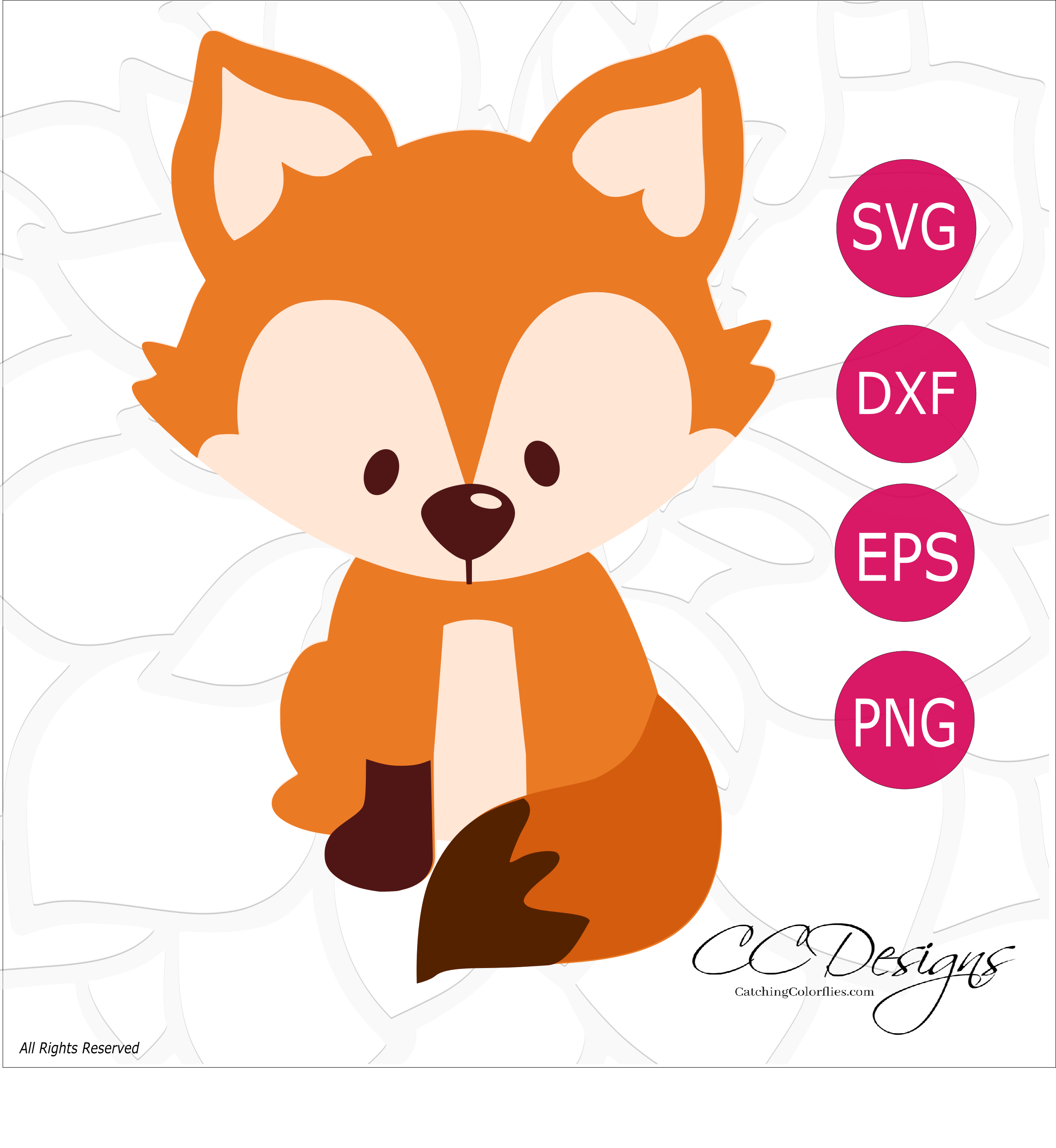picture regarding Free Printable Woodland Animal Templates titled Free of charge Fox SVG Slice History: Adorable Woodland Animal SVG Lower Documents