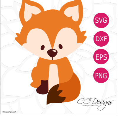 Free Fox SVG Cut File: Cute Woodland Animals