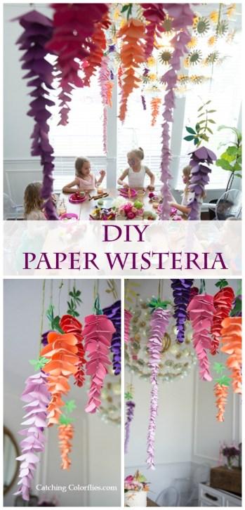 Paper wisteria tutorial. How to make paper wisteria