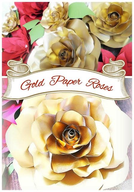 Golden Christmas inspirations. DIY gold roses. Holiday decor ideas #DIY