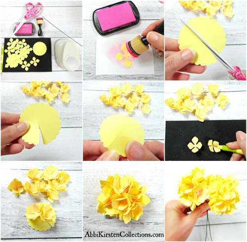 How to make paper hydrangeas