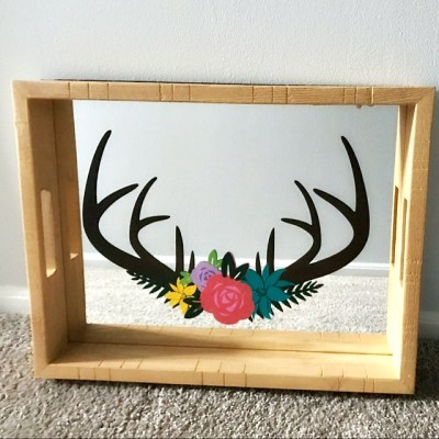 Free Deer Floral Antler SVG – Freebie Friday