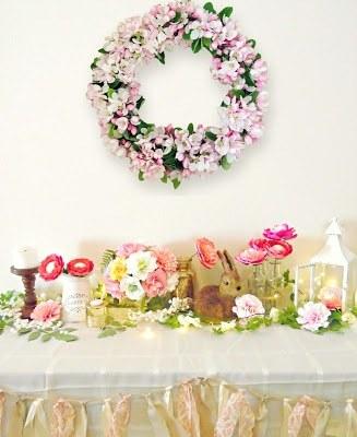 Spring living home decor ideas. MamasGoneCrafty.com
