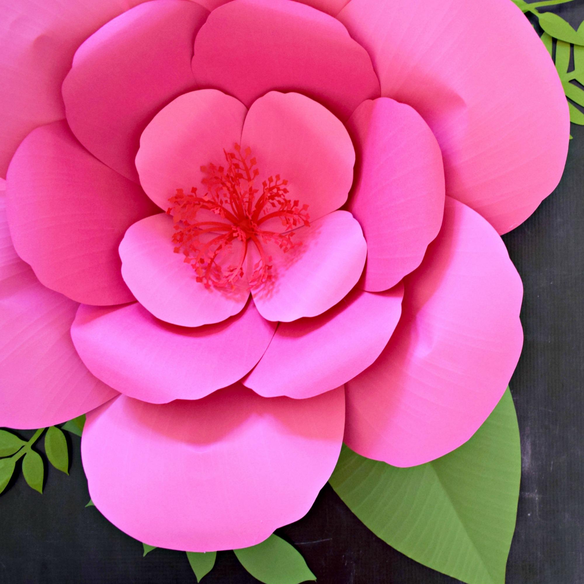 Giant Paper Flower Tutorial: DIY Large Hibiscus Flowers
