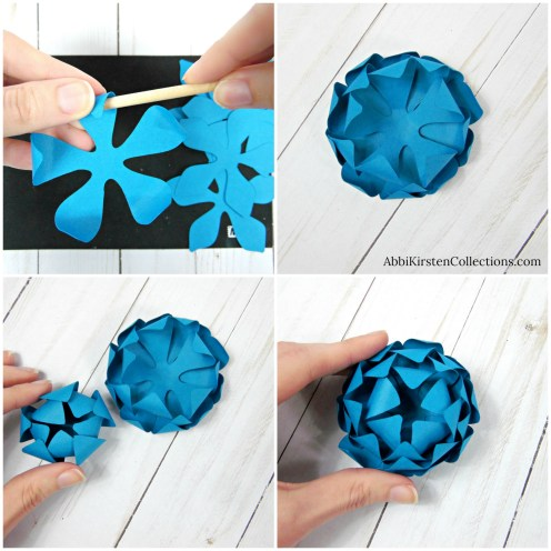 Small mum paper flowers
