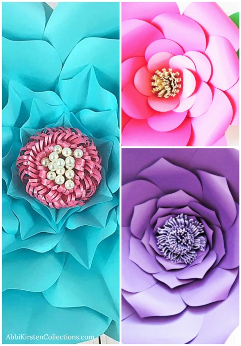 How to make giant paper flower centers