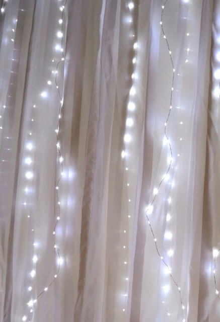 "Fairy Light, Curtain Lights 70 LED 80"" Length, Battery Operated"