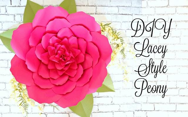 Large Paper Peonies: DIY Paper Peony Tutorial