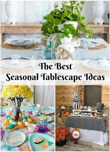 Seasonal tablescape decor