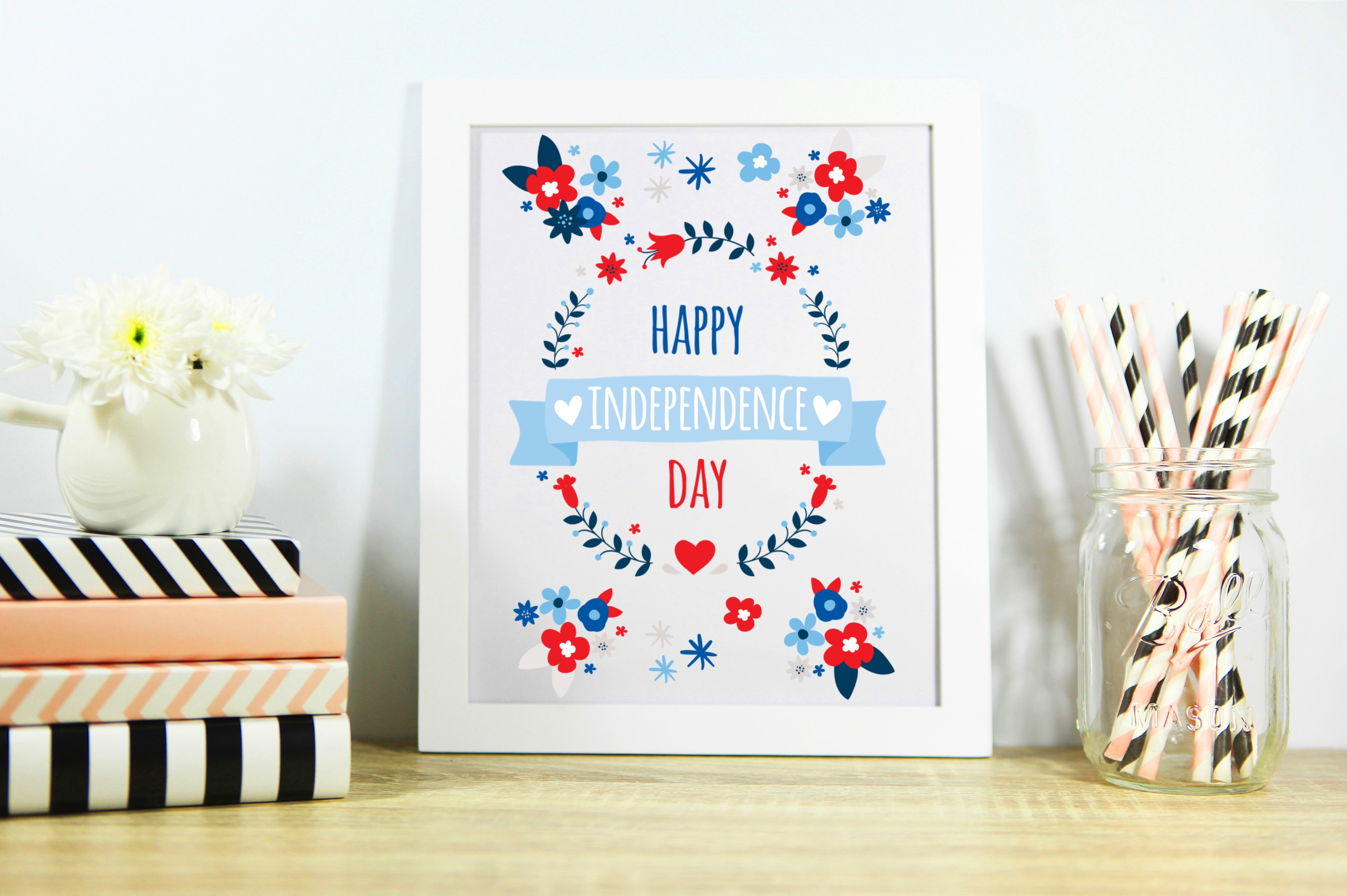 Free July 4th Wall Printable – Happy Independence Day