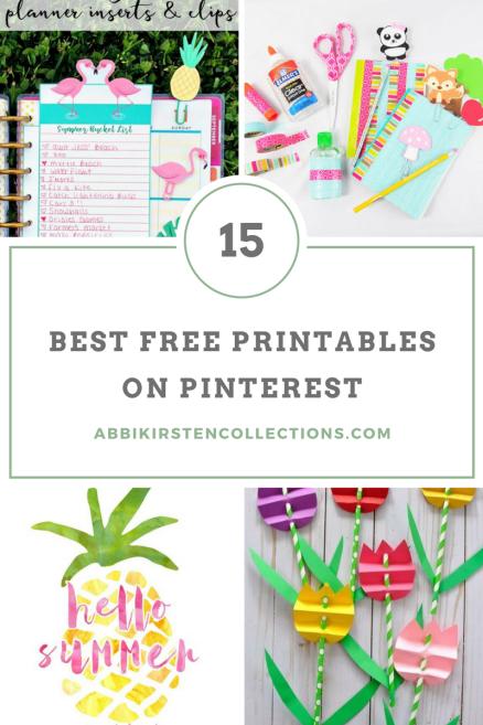 15 Best FREE Printables on Pinterest
