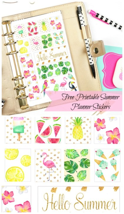Tropical Summertime Planner Sticker