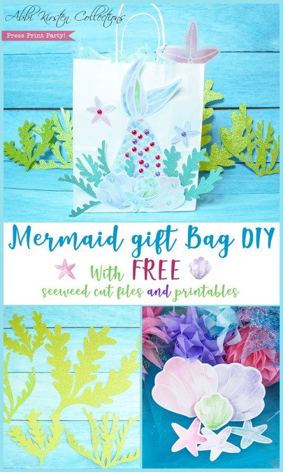 Mermaid gift bag DIY project.