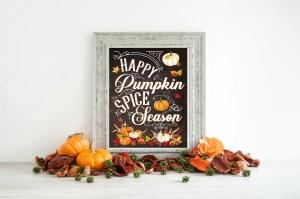 Happy Pumpkin Spice Season FREE Fall Printable
