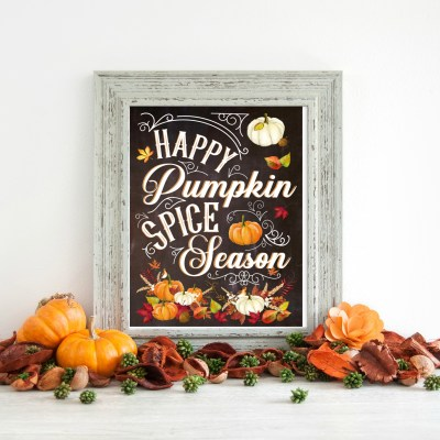 Happy Pumpkin Spice Season FREE Fall Printable
