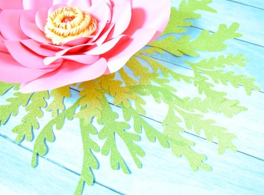 Seaweed and paper flower templates