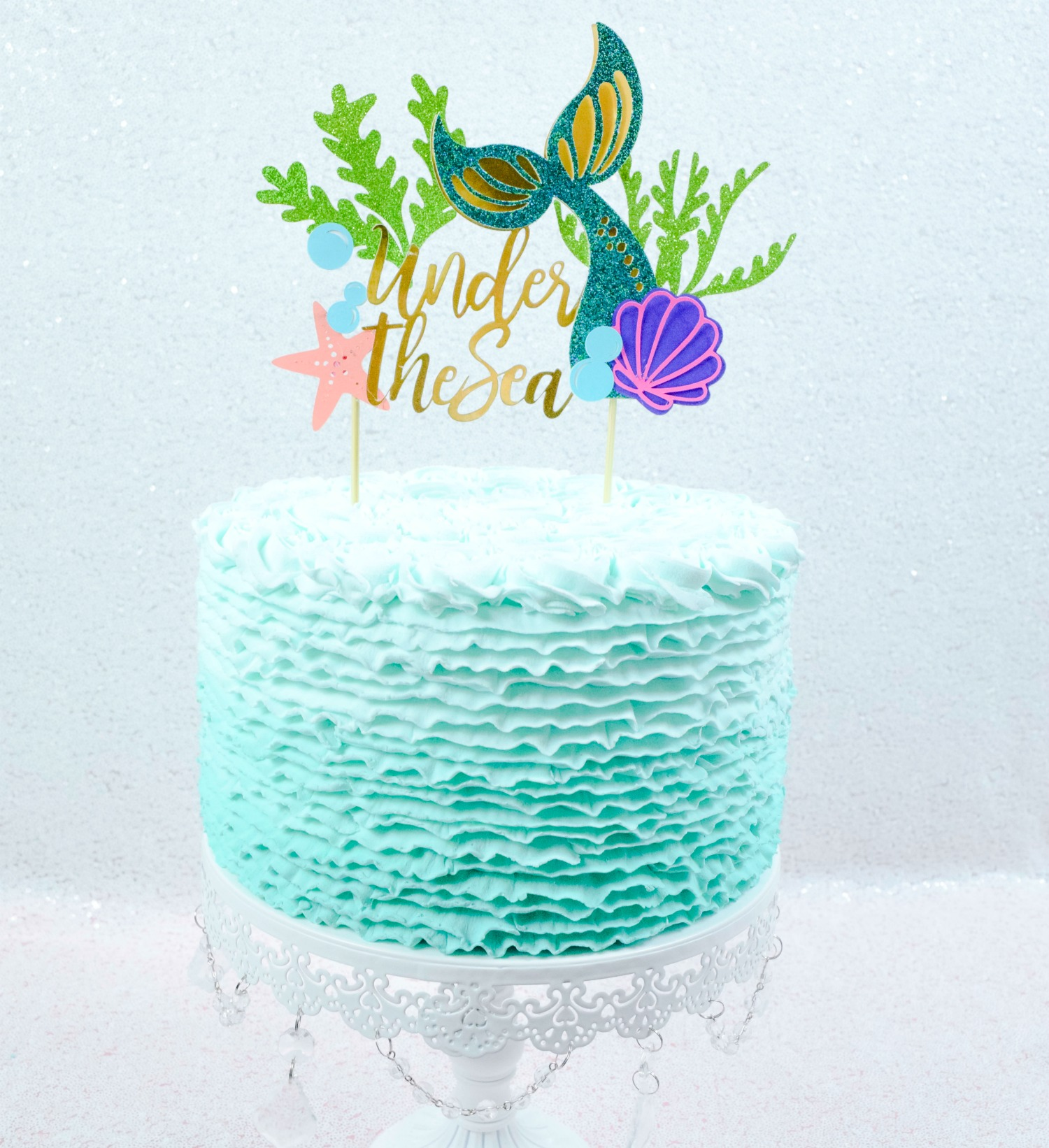picture about Printable Cake Topper Templates identified as Mermaid Tail Cake Topper: Do-it-yourself Birthday Cake Topper Guideline
