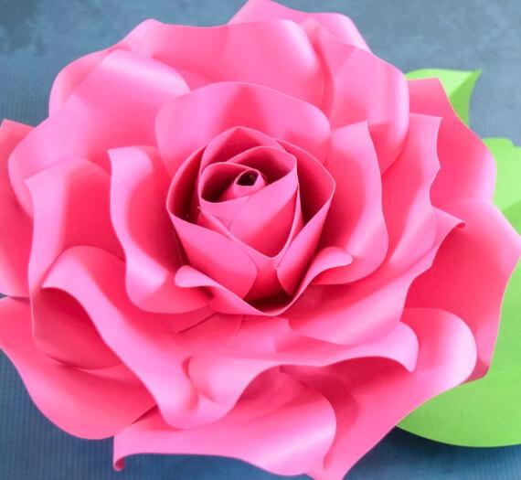 DIY Paper Flower Alora Garden Rose Tutorial