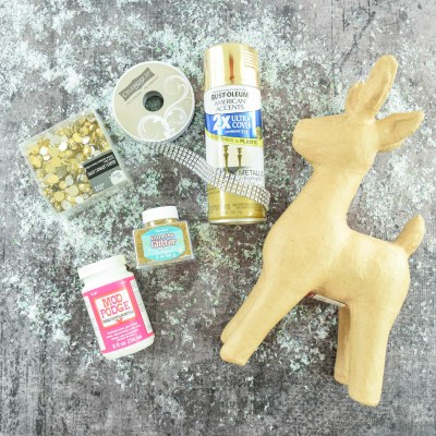 Gold Jewel Christmas Deer Craft