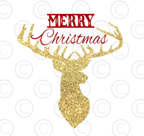FREE Reindeer Cut File & Poinsettia Template