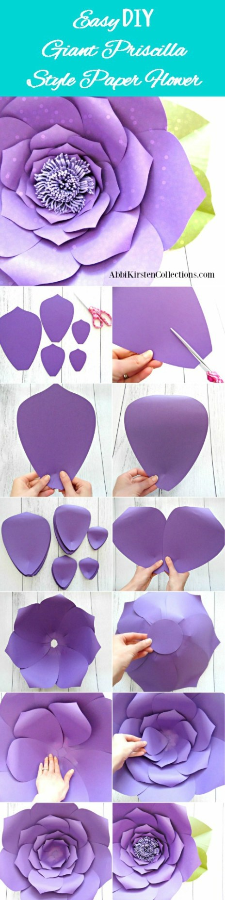 How To Make Giant Paper Flowers Step By Step Tutorial