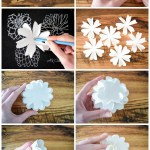 How to Make Paper Flower Balls. A step by step tutorial to create your own paper rose kissing balls to decorate your home, next party, wedding, or shower.