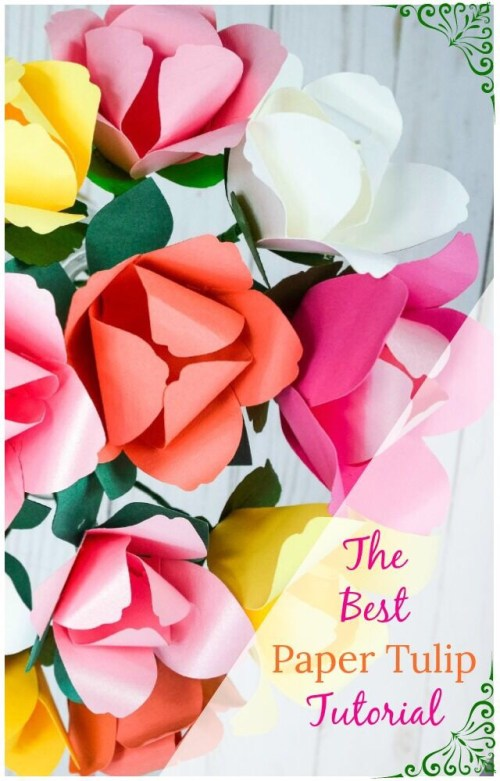 Paper tulip flowers. How to make a paper tulip. DIY tulips