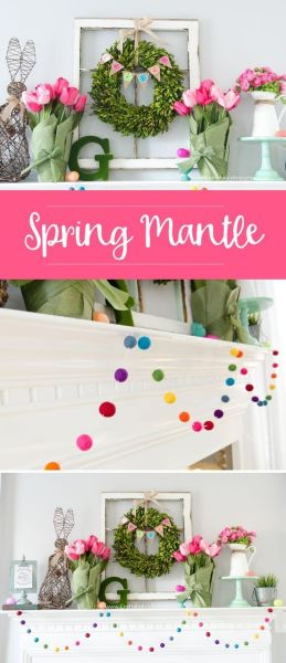 The Best 15 Spring Easter Decorations for 2018 - Spring Mantle