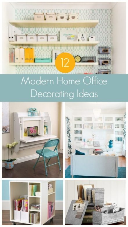 12 Modern Home Office Decorating Ideas for your home office