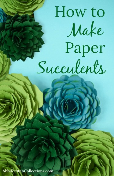 Paper Succulent Template: How to Make Paper Succulents