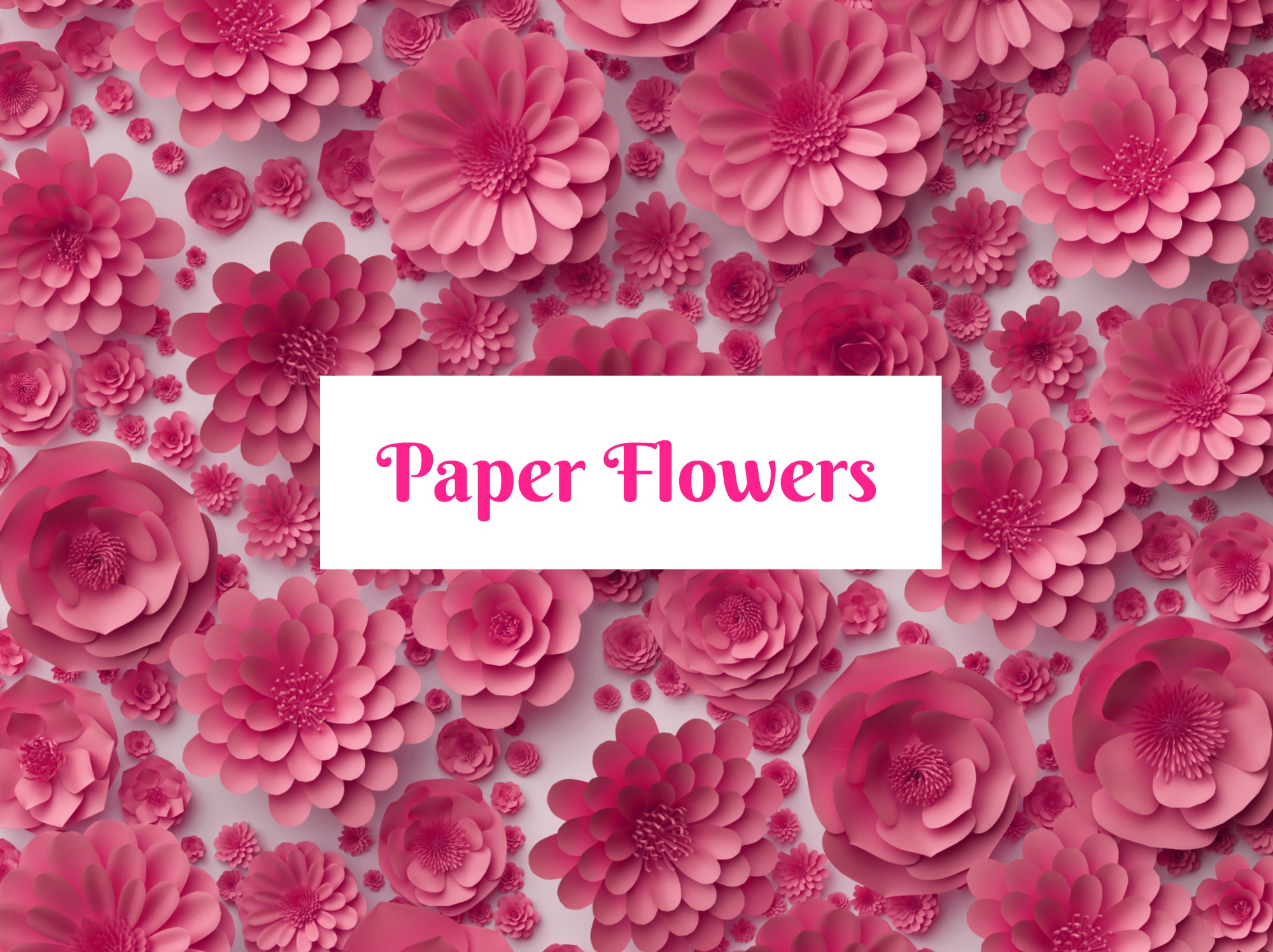 Paper Flowers Make Large And Small Paper Flowers Templates Tutorials