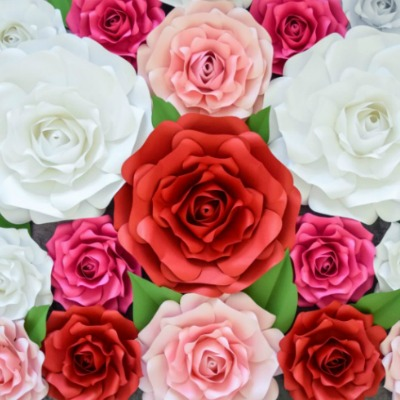 giant paper rose templates