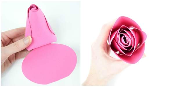 Free large paper rose templates