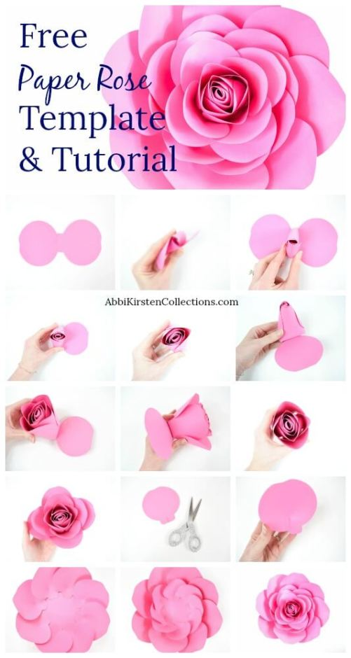 How to make large paper roses