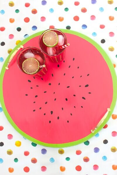 Watermelon Serving Tray by Oh So Beautiful Paper