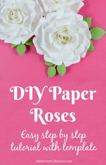 DIY paper rose tutorial. Easy paper roses.