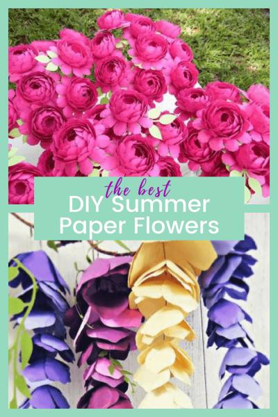 Summertime Paper Flower Roundup - BEST DIY Summer Paper Flowers
