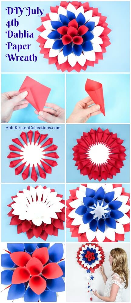 How to make a Dahlia paper wreath