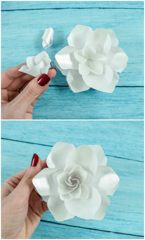 DIY paper gardenia flower tutorial